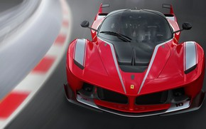 Picture road, Ferrari, supercar, FXX K