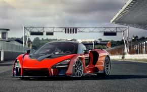 Picture McLaren, supercar, 2018, Senna, Delta Red