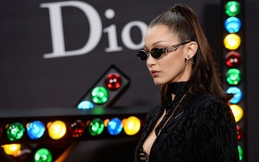 Picture model, glasses, Dior, Bella Hadid