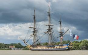 Picture ship, sailboat, mast