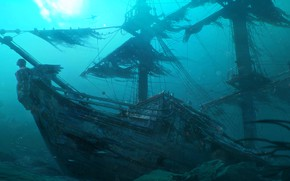 Picture Ship, Shipwreck, Underwater, Sailing