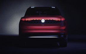 Picture Volkswagen, rear view, crossover, 2019, ID Roomzz, Roomzz