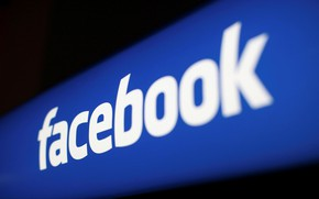 Picture fon, logo, Facebook, blur, facebook, social network