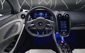 Picture McLaren, supercar, salon, MSO, 2019, McLaren GT, Defined Flux Silver