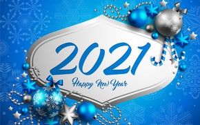 Picture background, holiday, balls, New year, beads, New Year, decor, 2021