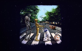 Picture Star Wars, Art, Star Wars, r2d2, Beatles, Droid, Paul Hudeczek, Inspired by the Beatles cover, ...