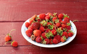 Picture background, strawberries, berry, plate