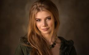 Picture look, girl, face, background, hair, portrait, Antonina, Denis Drozhzhin