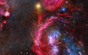 Picture space, planet, stars, Galaxy, Galaxy