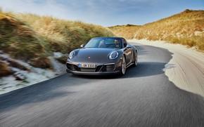 Picture road, Porsche, 4x4, Biturbo, Targa, special model, 911 Targa 4 GTS, Exclusive Manufaktur Edition