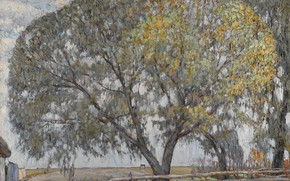 Picture Abraham Manievich, 1908 oil on board, THE WILLOW