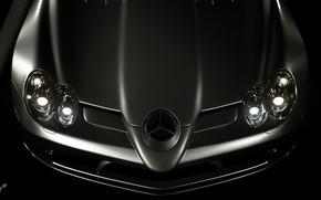 Picture Auto, Machine, Mercedes, Benz, Lights, SLR McLaren, mercedes benz slr mclaren, Mercedes - Benz, Gran …