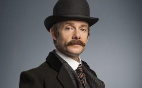 Picture mustache, hat, coat, Martin Freeman, Sherlock, Sherlock BBC, Sherlock Holmes, John Watson, Ugly bride, Sherlock …