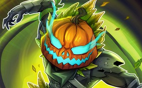 Picture background, pumpkin, guy, Fortnite