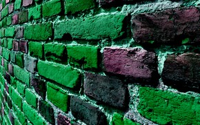 Picture color, wall, brick