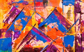 Picture canvas, line, strokes, colorful, paint