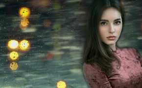 Picture look, girl, drops, Mikhailov Mikhail