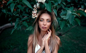 Picture look, girl, nature, Park, hair, lilac, Nastya, Kustarev Maxim