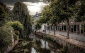 Picture Holland, canal, Amersfoort