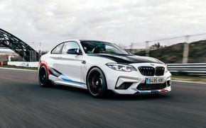Picture speed, BMW, racing track, 2018, Competition, F87, BMW M2, M Performance Accessories