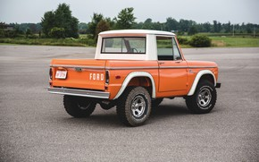 Picture orange, Ford, ass, Bronco, Half Cab