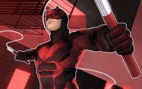 Picture mask, male, comics, Daredevil