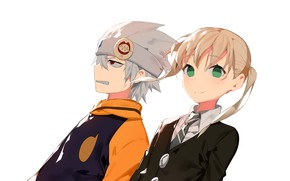 Picture girl, anime, guy, Soul eater, Soul Eater