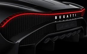 Picture Bugatti, rear view, hypercar, 2019, The Black Car