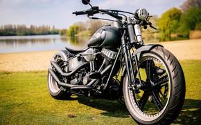 Picture Bike, Harley-Davidson, Motorcycle, Thunderbike, Old Style