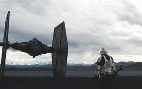 Picture Fighter, Star Wars, Soldiers, Fighter, Concept Art, Characters, TIE Fighter, Stormtrooper, Control, by Kuba Grzybowski, …