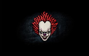 Picture clown, minimal, it, pennywise, it chapter two