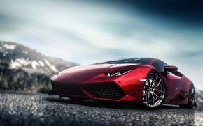Picture Red, Auto, Lamborghini, The game, Machine, Red Bull, Supercar, Driveclub, Huracan, Lamborghini Huracan, Blind Sarathonux, …