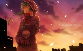 Picture girl, sunset, Kagerou Project