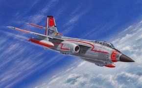Picture art, airplane, aviation, jet, SNCASO SO.4050 Vautour