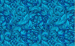 Picture blue, pattern, ornament