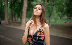 Wallpaper hair, Girl, dress, Grigoriy Lifin