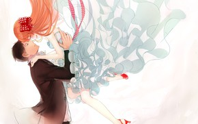 Picture girl, love, romance, guy, wedding, The gekka Shoujo Nozaki-kun, Nozaki, mangaka