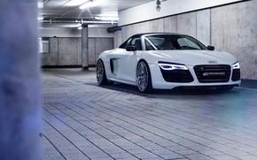 Picture Audi R8, AUDI R8, SPIDER, IBIS WHITE