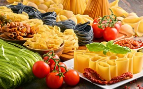 Picture tomatoes, tomatoes, pasta