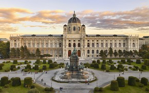 Picture Austria, the bushes, Palace, Vienna, The Museum of art history, Maria-Theresien-Platz, monument to Maria Theresa