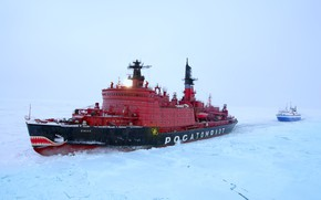 Picture ice, North, posting, icebreaker, Yamal, the nuclear-powered ship
