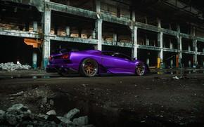 Picture Auto, Lamborghini, Machine, Car, Purple, Car, Render, Diablo, Rendering, Sports car, The room, Side view, …