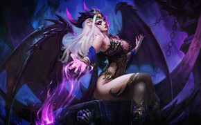 Picture Girl, Magic, Wings, The demon, Darkness, Fantasy, Horns, Art, Art, Succubus, Darkness, Fiction, Dead, Character, …