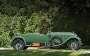 Picture Vintage, Retro, Side view, British Car, 1931 Bentley 4 14