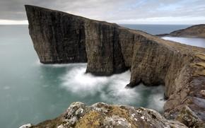 Picture sea, shore, Faroe islands