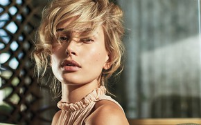 Picture look, girl, face, hair, Hailey Baldwin