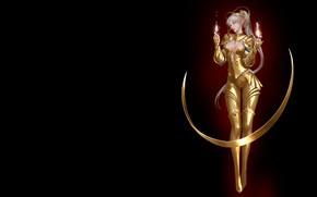 Picture magic, anime, fantasy, Golden Armor, Mam BA