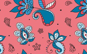 Picture flowers, background, pattern, texture, pattern, floral, Paisley