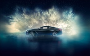 Picture BMW, side view, Coupe, Night Sky, Individual, 8-Series, 2019, M850i, XDrive, Night Sky Edition