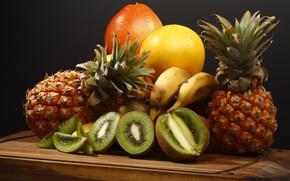 Picture kiwi, fruit, pineapple